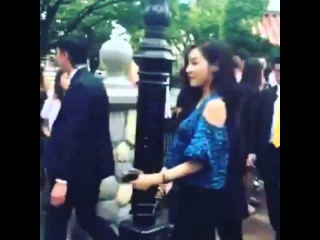 [Fancam] 150709 SNSD Filming for KBS Guerrilla Date at Lotte World