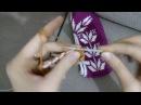 Tunus işi patik modelinde yaprak motifi yapılışı