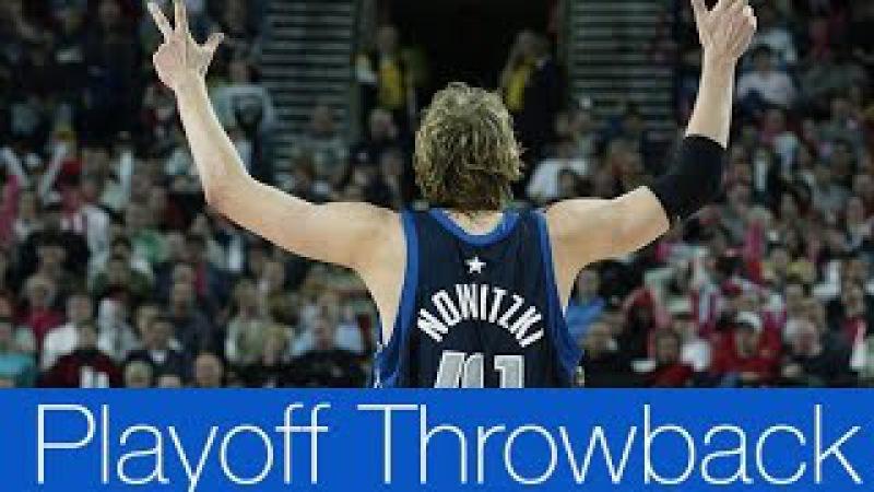 Dirk Nowitzki Full Highlights 2003 First Round Gm 3 vs Trail Blazers 42 Pts