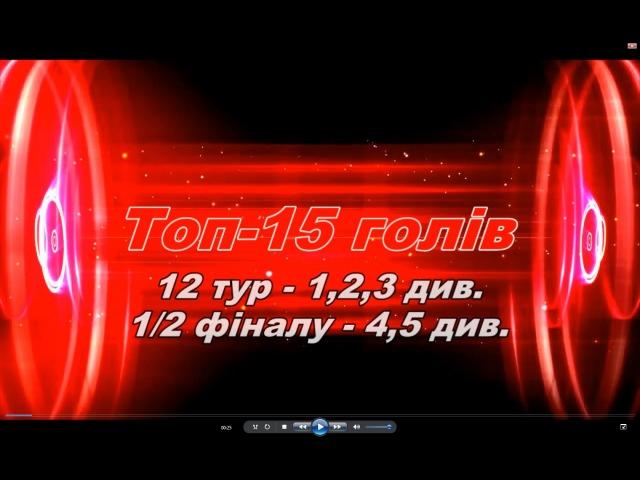Топ -15 голів Преміум-ліги - 12 тур (6-7.02.2016)
