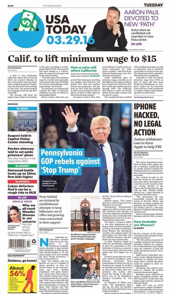 USA Today  March 29 2016