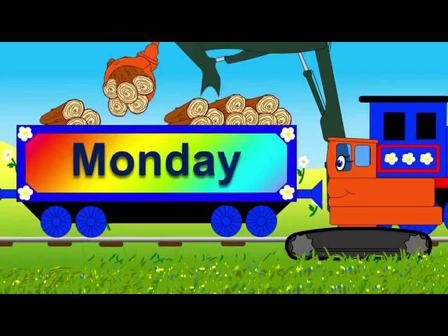 Мультик на английском Дни недели паровозик Чу Чу Days of the week song with Choo Choo train