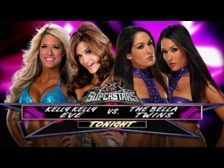 WWE Superstars 2011 The Bella Twins vs Eve & Kelly Kelly