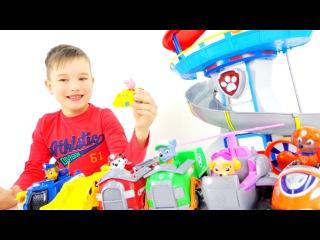 Спасатель Свинка Пеппа. Игрушки ЩЕНЯЧИЙ ПАТРУЛЬ. Paw Patrol toys. Видео для детей