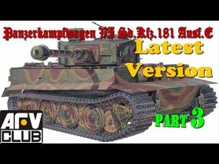 Постройка/building Tiger I AFV Club AF 35079 ч.3