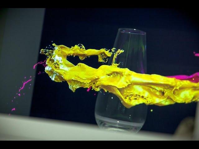 RealFlow Filling A Glass Using Dspline