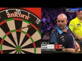 Peter Wright vs Phil Taylor (2016 Premier League Darts / Week 13)
