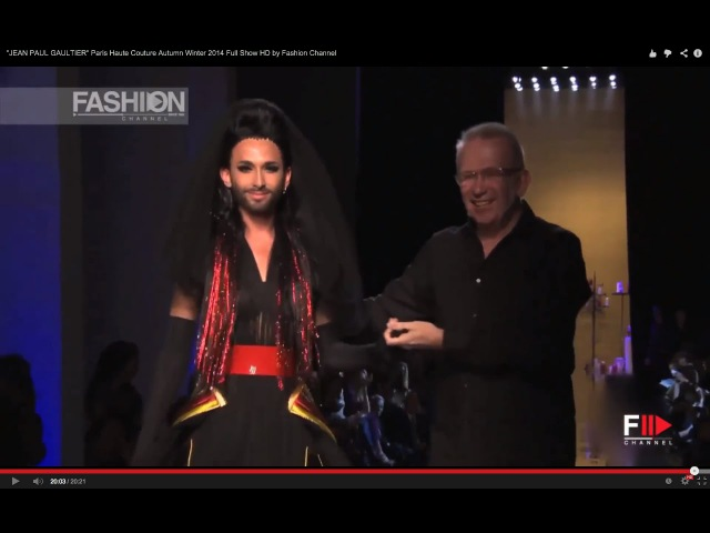 JEAN PAUL GAULTIER feat. Conchita Wurst Paris Haute Couture Autumn Winter 2014 Full Show HD by FC
