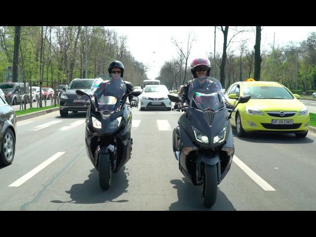 Yamaha TMAX 2016 vs BMW C 650 Sport 2016 Test comparativ maxi scutere