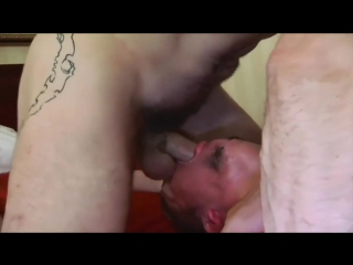 Tattooed daddies feel stick crazy and plunge into gang orgy