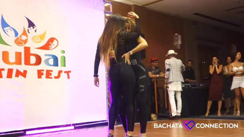Tanja La Alemana Desiree Guidonet - Hot Bachata (Dubai Latin Festival 2016)