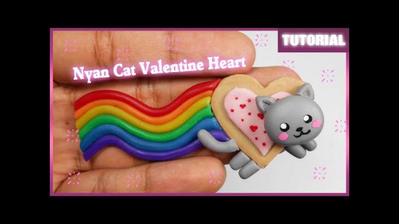 ♡ Nyan Cat Valentine Heart Polymer Clay Tutorial ♡ Porcelana Fría ✰ Plastilina