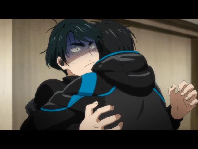 Yuuri's hug Yuuri on ice