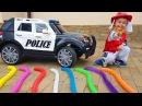 ЩЕНЯЧИЙ ПАТРУЛЬ смотреть Учим Цвета и Лопаем Шарики Learn Colors and Crush Water Balloons Under Car