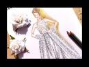 Fashion Illustration Reem Acra spring summer Nina Mid Illustrations