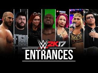 WWE 2K17 Entrances: Apollo Crews, Sasha, Cesaro, Becky, Miz, Emma, Owens & Carmella! #WWE2K17