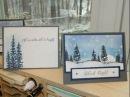 Moonlight Winter Scene Card using Stampin' UP