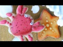 Beach crab starfish cookies - how to make beach themed cookies perfect for a Moana party