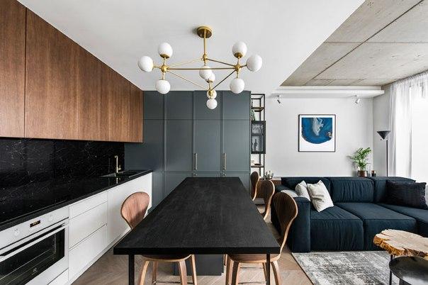 Современная квартира для семьи в Вильнюсе (81 кв....