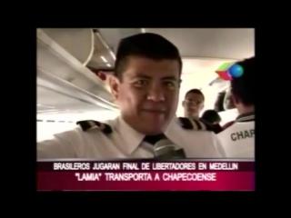 Tv boliviana gravou com elenco da chape antes da decolagem
