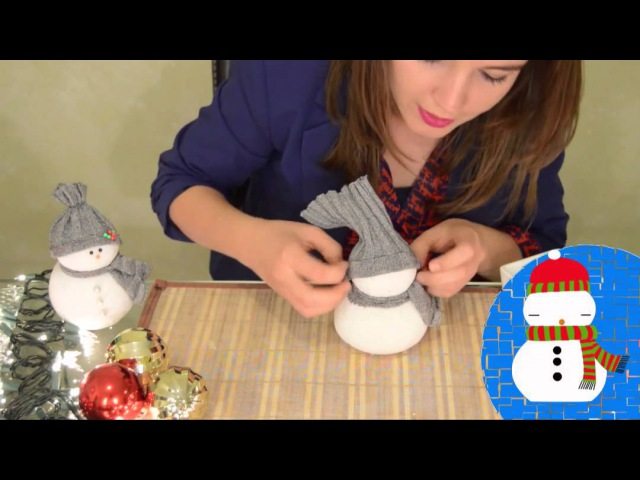 DIY Adorno navideño Muñeco de nieve