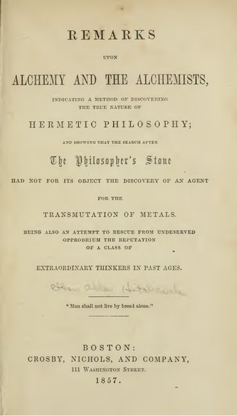 Alchemy and The Alchemist 1857