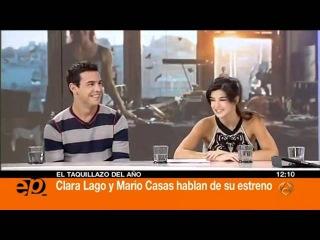 Mario Casas y Clara Lago visitan el plató de Espejo Pú