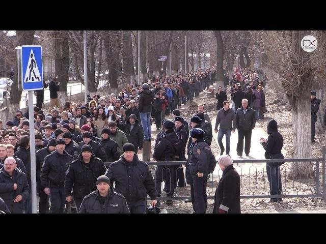 Около трёх тысяч саратовцев вышло на прогулку Димон ответит