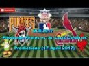 MLB The Show 17 Pittsburgh Pirates vs. St. Louis Cardinals Predictions MLB2017 (17 April 2017)