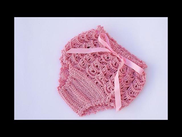 Cubre pañal o braguita a crochet a juego con vestido muy fácil y rápido