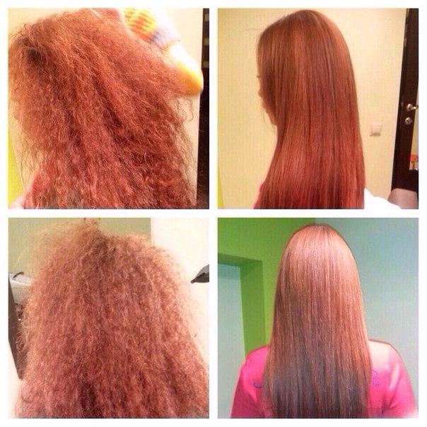 Кератиновое выпрямление волос кератином