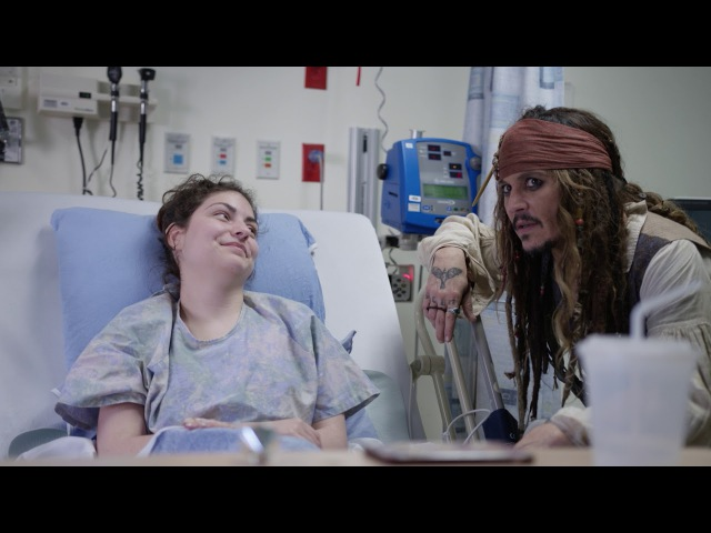 """Johnny Depp as Captain Jack Sparrow"""" sails into Vancouver to visit patients at BCCH FULL VIDEO"""