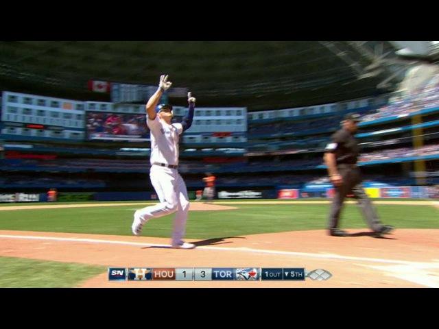 HOU@TOR: Donaldson launches a three-run homer in 5th