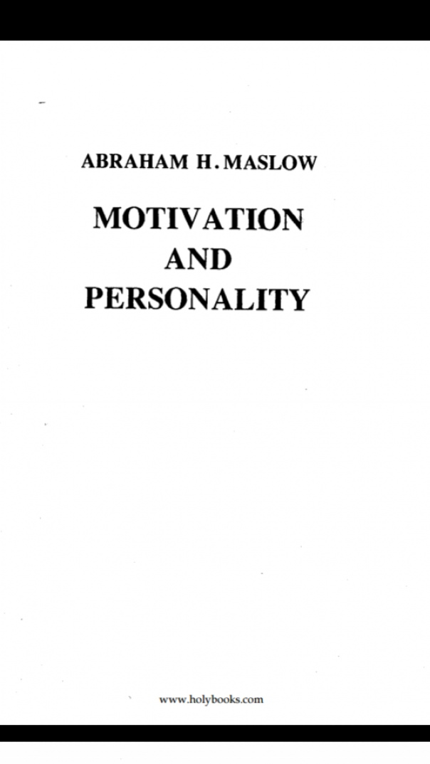 Motivation-and-Personality-Maslow