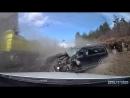 Водитель выжил в лобовом столкновении! (18+ )