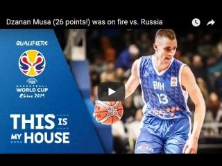 Russia v Bosnia  Herzegovina - Highlights - FIBA Basketball World Cup 2019 - European Qualifiers