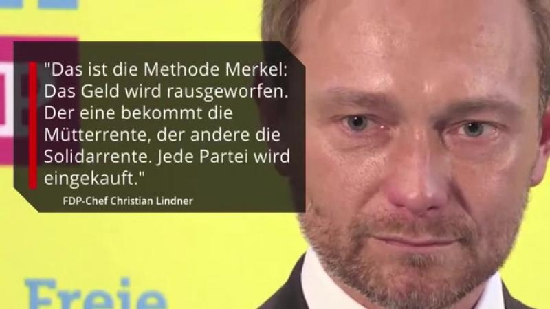 -Jede Partei wird eingekauft-- FDP-Chef Lindner warnt vor -Methode Merkel-