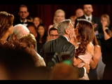 Amal Clooney kisses George as he is honoured by the AFI - Daily Mail