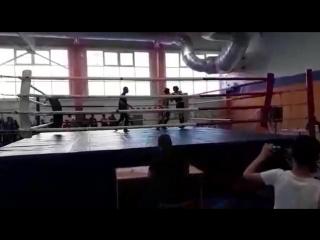 синий угол,победа! полуфинал БЕЛЫЙ БАРС тайский бокс челны