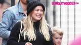 Hilary Duff Keeps Baby Bump Under Wraps While Shopping With Matthew &amp Luca At The Farmers Market