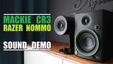 Razer Nommo vs Mackie CR3 Sound Demo w Bass Test