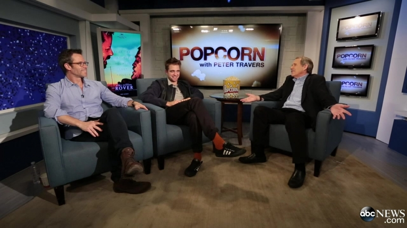 Rob and Guy with Peter Travers on ABC`s Popcorn