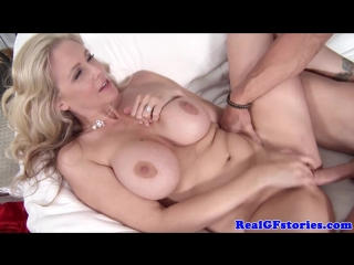 Julia Ann Milkman Pops His Penis Between Her Big Jugs milf big tits boobs mom wife Brazzers anal ass