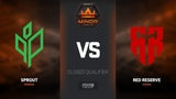 Red Reserve vs Sprout, map 1 mirage, Europe Minor Closed Qualifier FACEIT Major 2018