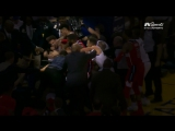 Take a closer look as it appears Kelly Oubre Jr. lands a punch to Klays face during the scrum