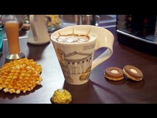 Кофе Капучино Рецепт - Рисунки на кофе Латте-арт - Cappuccino.