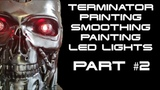 Terminator T-800 installing LED lights, ONOFF switch, and battery holder (PART #2)