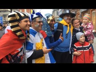 Футбольные фанаты Egypt - Uruguay на улицах Екатеринбурга