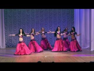 """Старший состав школы танца """"файза"""", group belly dance, modern oriental style."""