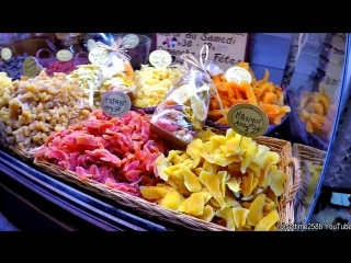 Bakeries, Pastries and Sweets Shops in Nice, France. Old Town